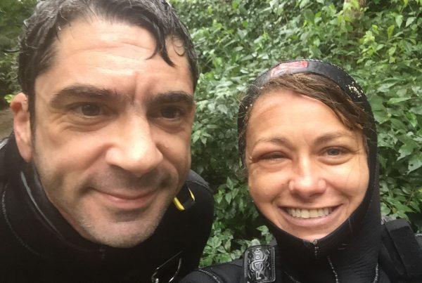 Natalie L Gibb, VIncent Rouquette Cathala, Cave Diving Mexico, Cave Diving Instructor Mexico