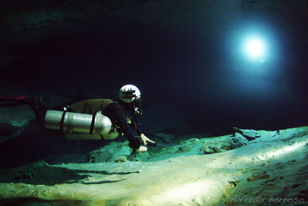 Cavern Diving at Cenote Ponderosa